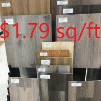 石塑地板特价$1.79 起,现有大量新货