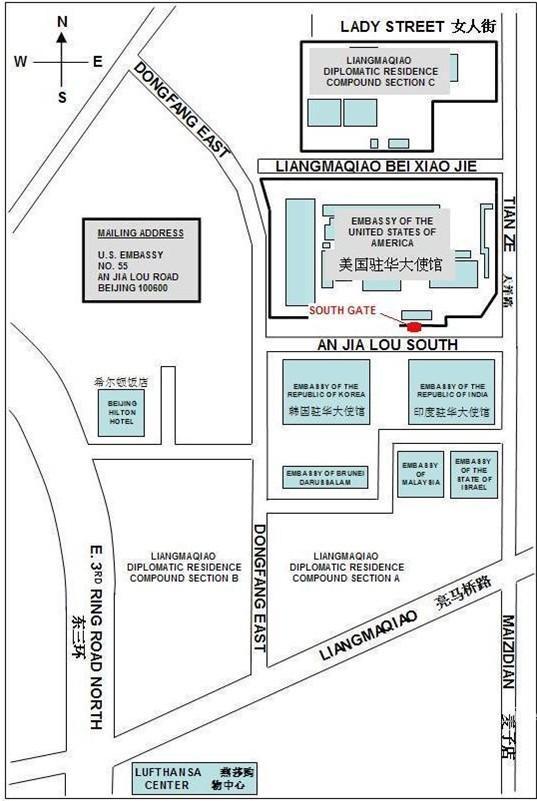 beijing embassy map