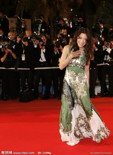 "Actress Michelle Yeoh arrives for a gala screening of U.S. director Quentin Tarantino's film ""Death Proof"" at the 60th Cannes Film Festival May 22, 2007. REUTERS/Jean-Paul Pelissier (FRANCE) FILM-CANNES/"