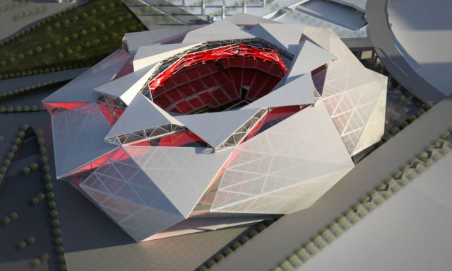 今天在梅赛德斯 - 奔驰体育场举行首场足球赛
