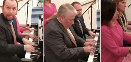 美四人轮流弹钢琴成网红 点击量破千万
