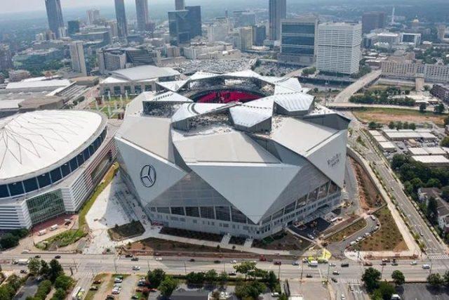 2017年美国大满贯赛事奔驰体育场已在亚特兰大完工