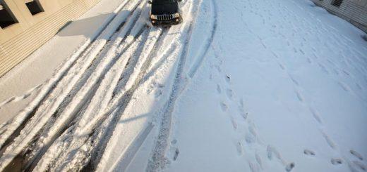 雪后行车需谨慎 亚城部分学校停课