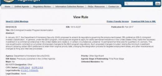 美国移民局新官上任 誓要在2月前推动EB-5涨价
