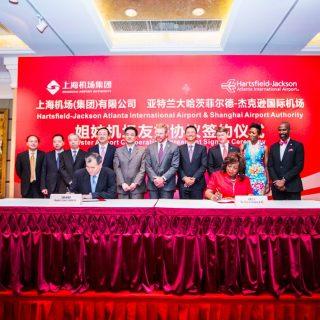 亚特兰大国际机场与上海机场集团签署战略合作协议,结为姐妹机场!