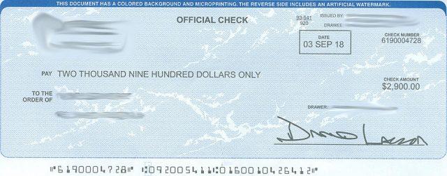 怀俄明州最近发现的假支票