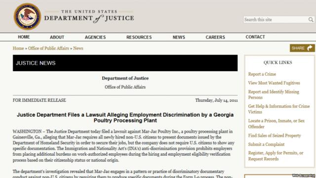 乔治亚公司因要求非公民出示工卡被美司法部罚款