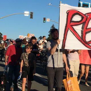 房屋正义联盟联合亚平会下城示威游行