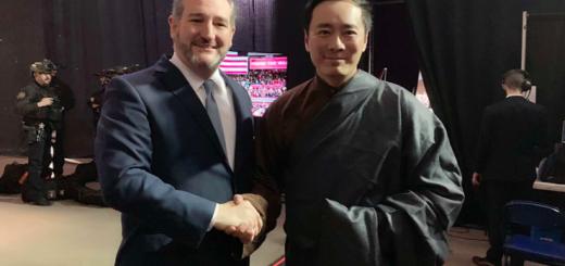 """特朗普""""边境墙""""活动遇华裔 赞民族服装祝贺春节"""