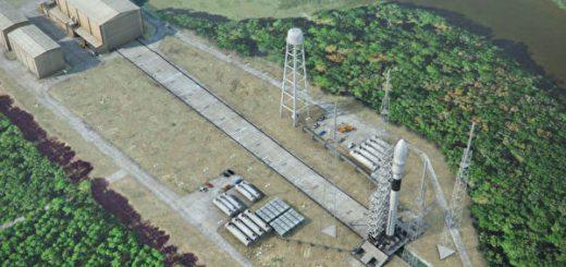 乔治亚理工学生坎登太空港测试火箭