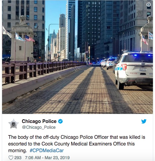 一语不发 拔枪就射!芝加哥一不当值警察不幸中枪离世
