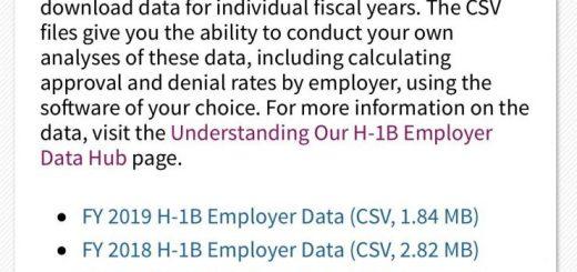 移民局发布H-1b工作签证雇主数据中心,向公众提供信息