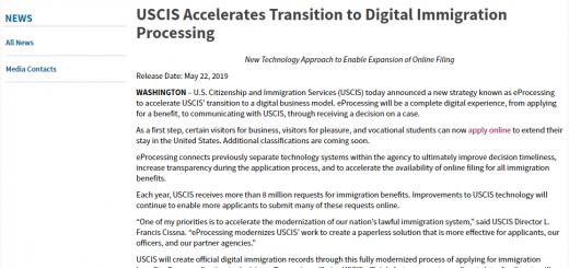 移民局扩大电子化服务 将大大加快申请及处理案件效率
