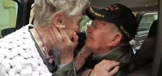 感人!75年后,美国98岁老兵与92岁初恋重逢【有图有真相】