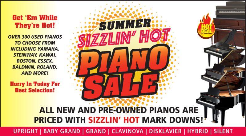 YAMAHA夏季热销:享有所有新旧钢琴酷夏最新热门降价!