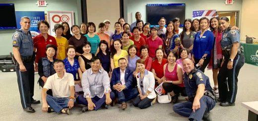 亚城华裔社区与Gwinnett郡警局合办首次女子徒手防身术训练班!训练归来,各个成女将!