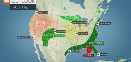 """热带风暴""""多利安""""或变飓风 于""""劳工节""""周末袭东南"""