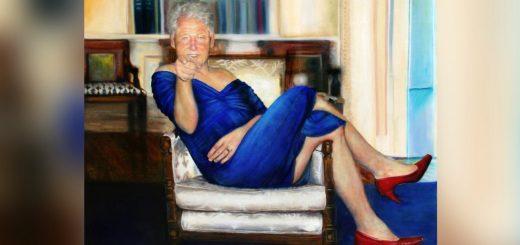 爱泼斯坦纽约豪宅惊现克林顿怪异画像:穿着莱温斯基的蓝裙子