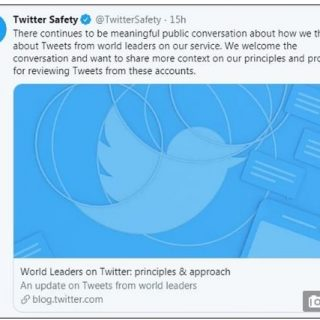 川普要管管自己的嘴了? Twitter宣布政客言论不当会被禁转发