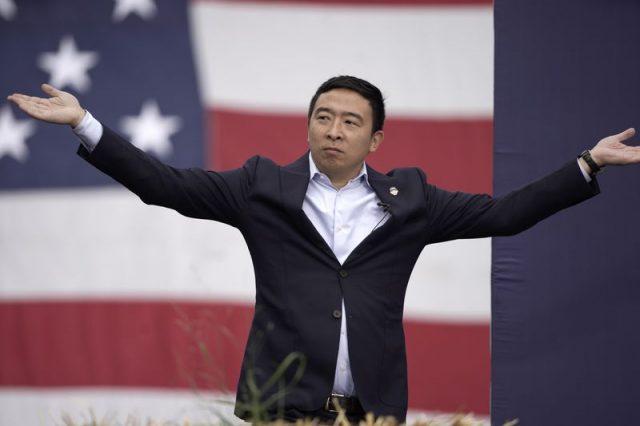 华裔候选人杨安泽第三季度筹款1000万元 是上一季度的三倍