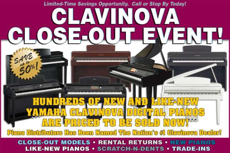 YAMAHA电钢CLAVINOVA旧型号抛售活动
