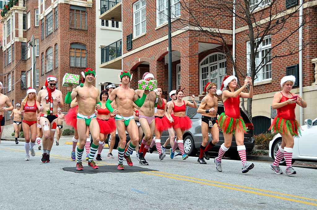 亚城圣诞老人Speedo Run