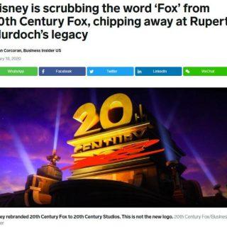 一個時代的終結? 二十世紀福克斯電影公司改名了