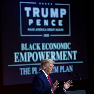 川普造访亚城 参加黑人选民造势大会