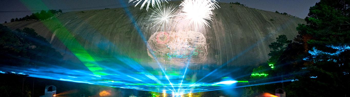 石头山公园的精彩 Lasershow